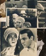 Cpa Cinema Rodolfo Valentino, Silent Movie, LOT Of 10 Original Photo - Postcards, Italian Actor - Actors