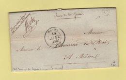 Macon - 70 - Saone Et Loire - Boite Rurale Q - Courrier En Franchise De Leynes Pour Le Procureur Du Roi A Macon - 1801-1848: Precursori XIX