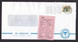 Iceland: Cover, 1990, 1 Stamp, Soccer, Football, Returned, Retour Label Ebl. 675, Unknown (minor Damage) - 1944-... Republiek