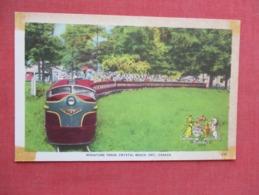 Miniature Train   Crystal Beach   Scotch Tape Stains On Corners  Canada > Ontario      Ref 3647 - Ontario
