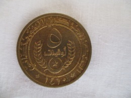 Mauritanie: 5 Ouguiya 1974 - Mauritanië