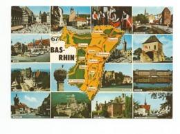 67-Carte Contour Géographique Du Département De  BAS  RHIN - Cartes Géographiques