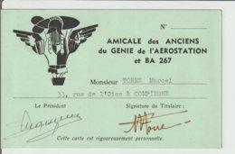 CARTE DE L'AMICALE DES ANCIENS DU GENIE ET DE L'AEROSTATION / 1981 - Other