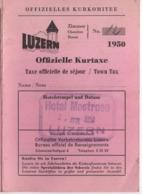 Carte à 3 Volets / LUZERN/Offizielle Kurtaxe/Hotel Mostrose/Attractions Et Informations/1950  VPN262 - Dépliants Touristiques
