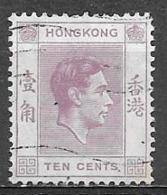 1938 King George VI, 10 Cents, Used - Hong Kong (...-1997)