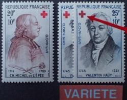 R1949/1046 - 1959 - CROIX ROUGE - N°1226 à 1227 TIMBRES NEUFS** - VARIETE ➤➤➤ Croix Rouge Tirant Vers Le Noir - Varieteiten: 1950-59 Postfris