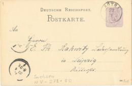DR GA  Krone/Adler P12 Rötha 1886 - Cartas