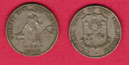 PHILIPPINES  25 CENTAVOS 1966 (KM # 189.1) #5438 - Philippines