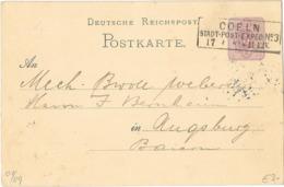 DR GA  Krone/Adler P10 Coeln 1881 - Cartas