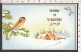 98025/ NOUVEL AN, Mignonette, Oiseau - Anno Nuovo