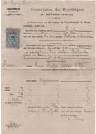 Certificat De Radiation/ Conservation Des Hypothéques De NEVERS ( Niévre)/FOURS/  1878             VPN264 - Ohne Zuordnung