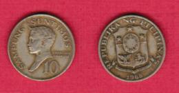 PHILIPPINES  10 SENTIMOS 1968 (KM # 198) #5442 - Philippines