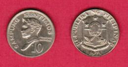 PHILIPPINES  10 SENTIMOS 1971 (KM # 198) #5445 - Philippines