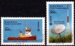 Cept 1988 Chypre Turc Turks Cyprus Yvertn° 208-209 *** MNH Cote 4,00 € Transport Communication - Europa-CEPT