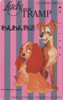 Télécarte Japon / 110-70729 - DISNEY - BELLE & LE CLOCHARD - LADY & THE TRAMP ** ONE PUNCH ** Japan Movie Phonecard - Disney