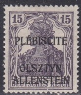 Allenstein, Scott #4, Mint Hinged, Germania Overprinted, Issued 1920 - Germany