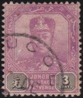 Johore     .   SG     .    80a  Wmk Horizontal    .      O         .     Cancelled      .   /    .  Gebruikt - Johore