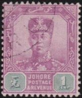 Johore     .   SG     .    61a  Chalk   .      O         .     Cancelled      .   /    .  Gebruikt - Johore