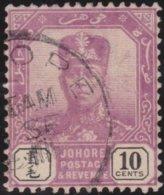 Johore     .   SG     .    67a  Chalk (2 Scans)  .      O         .     Cancelled      .   /    .  Gebruikt - Johore
