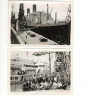 """LE HAVRE - Bâteau """"Ile De France"""" - 2 Photos 8 X 11,5 - 1956 - Bateaux"""