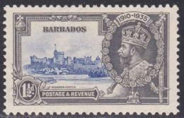 Barbados, Scott #187, Mint Hinged, Silver Jubilee, Issued 1935 - Barbados (...-1966)