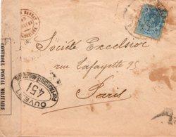 LSC - CENSURE - Controle Postal Militaire - OUVERT PAR L'AUTORITE MILITAIRE 451 - Spain