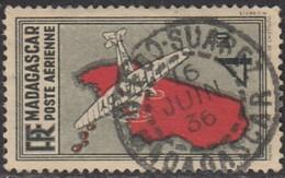 Madagascar 1908-1939 - Diego-Suarez Sur Poste Aérienne N° 7 (YT) N° 7 (AM). Oblitération De 1936. - Madagascar (1889-1960)