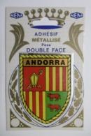 "Carte Postale Autocollante Adhésif ""ANDORRA"" Sticking Postcard Vinyl Stickers BLASON ANDORRE - Andorre"