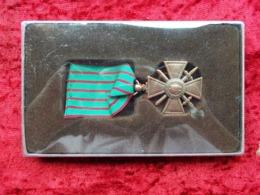 Croix De Guerre Francia 1914-1918 Con Nastrino E Scatola - France