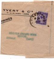 Cachet AMIENS  Sur YT 651 - Sur Bande Journaux - Entête - YVERT & Cie - Journaux