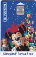 TC115 TÉLÉCARTE 50 UNITÉS - DISNEYLAND PARIS A 5 ANS ! - Disney