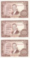 TRIO CORRELATIVO DE ESPAÑA DE 100 PTAS DEL 7/04/1953 SERIE 2K SIN CIRCULAR-UNCIRCULATED (BANKNOTE) - [ 3] 1936-1975 : Régimen De Franco