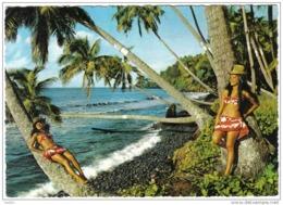 Carte Postale Polynésie Française Tahiti   La Joie De Vivre Des Tahitiennes Trés Beau Plan - Tahiti