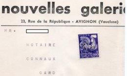 YT Préo 119 - Sur Bande Journaux - Entête - Nouvelles Galeries à AVIGNON (Vaucluse) - Journaux