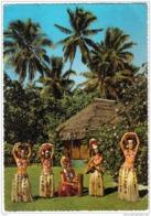 Carte Postale Polynésie Française Tahiti   Musicien Et Danseuses Tahitiennes Trés Beau Plan - Tahiti