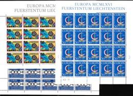 1965 1966 1967 Liechtenstein EUROPA CEPT EUROPE 60 Serie MNH** In 3 Minifogli Di 20  3 Minisheets - Europa-CEPT