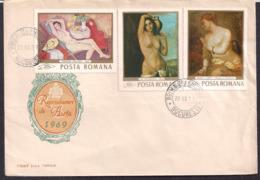 Rumania - 1969 - FDC - Reproductions D'art - Nus