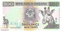 TANZANIA 500 SHILINGI 1997 PICK 30 UNC - Tanzania