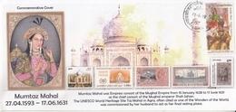 INDIA  2019  Mumtaz Mahal  Wife Of Mughal Emperor Shah Jahan  Taj Mahal  Special Cover  # 20659  D Inde  Indien - Islam