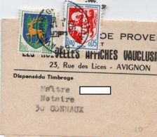 Cachet AVIGNON - Sur Bande Journaux - Entête - LES NOUVELLES AFFICHES VAUCLUSIENNES  à Avignon - Journaux