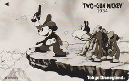 Télécarte NEUVE Japon / 110-166344 - DISNEY - TWO GUN MICKEY - Film Movie Japan MINT Phonecard - Disney