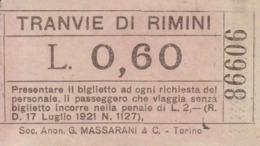 ** TRANVIE DI RIMINI.-** - Mondo