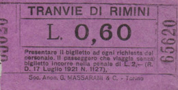 ** TRANVIE DI RIMINI.-** - Wereld
