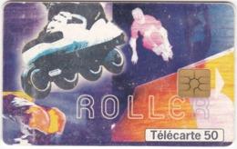 TC128 TÉLÉCARTE 50 UNITÉS - COLLECTION STREET CULTURE - N°1 : ROLLER - CULTURE DE LA RUE - Sport