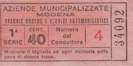 ** TRANVIE URBANE DI MODENA.-** - Mondo