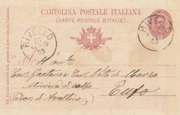 Rivello. 1900. Annullo Grande Cerchio RIVELLO, Su Cartolina Postale Completa Di Testo - Marcofilie