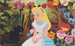 Télécarte NEUVE Japon / 110-205606 - DISNEY - ALICE IN WONDERLAND - Série Film 1/3 - Movie Japan MINT Phonecard - Disney