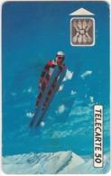 TC132 TÉLÉCARTE 50 UNITÉS - XVIèmes JEUX OLYMPIQUES D'HIVER - ALBERTVILLE 92 - Olympic Games