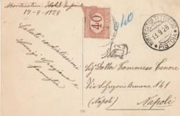 CARTOLINA 1928 SEGNATASSE C.40 TIMBRO MONTECATINI TETTUCCIO -BAGNI DI MONTECATINI TENNIS (IX1106 - 1900-44 Victor Emmanuel III