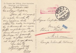 CARTOLINA 1943 DA BERN PER CAMPO INTERNATI ITALIANI MUNCHEN (IX1095 - 1900-44 Victor Emmanuel III